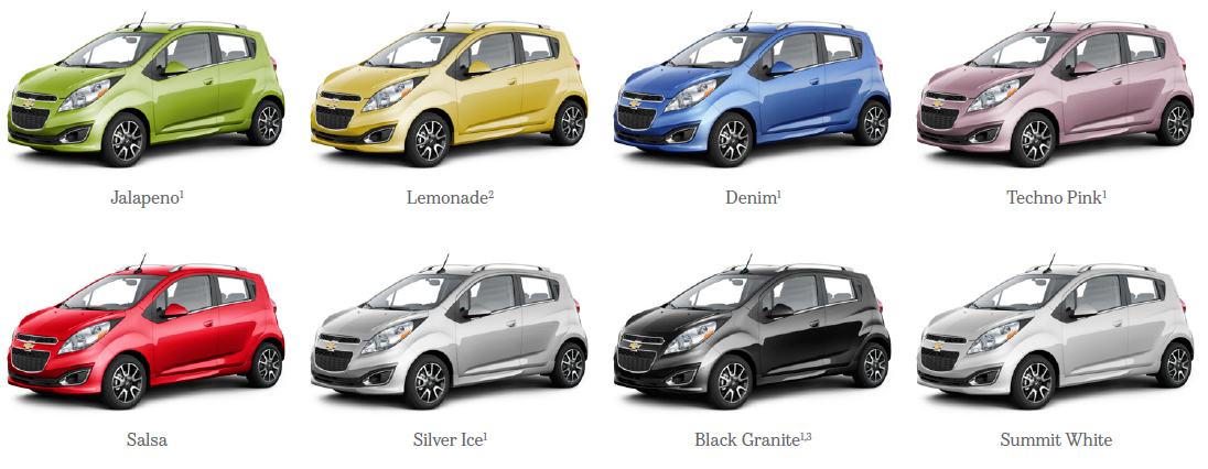 Chevy Spark Colors 2013 Chevrolet Spark Maximizes The Mini Car