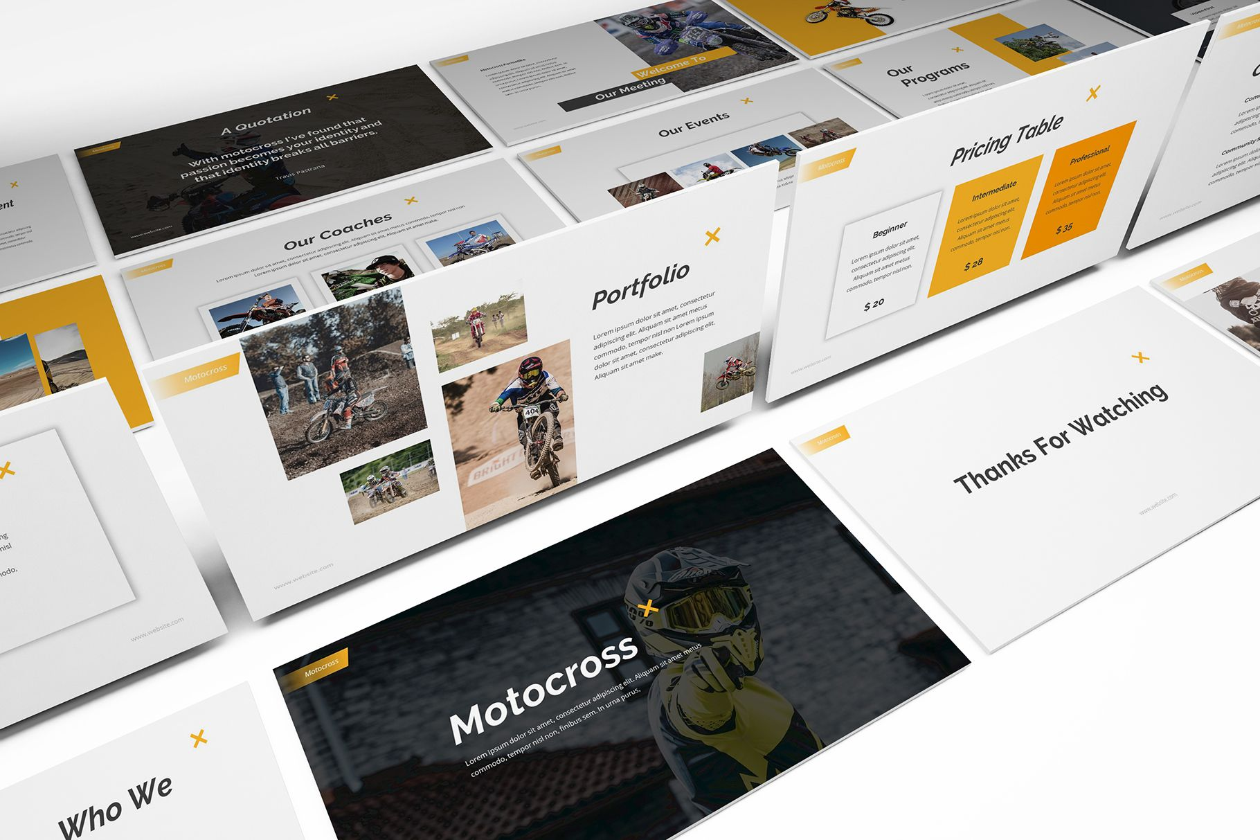 Motocross Powerpoint Template 474723 Presentation Templates Design Bundles Powerpoint Templates Presentation Templates Google Slides Template