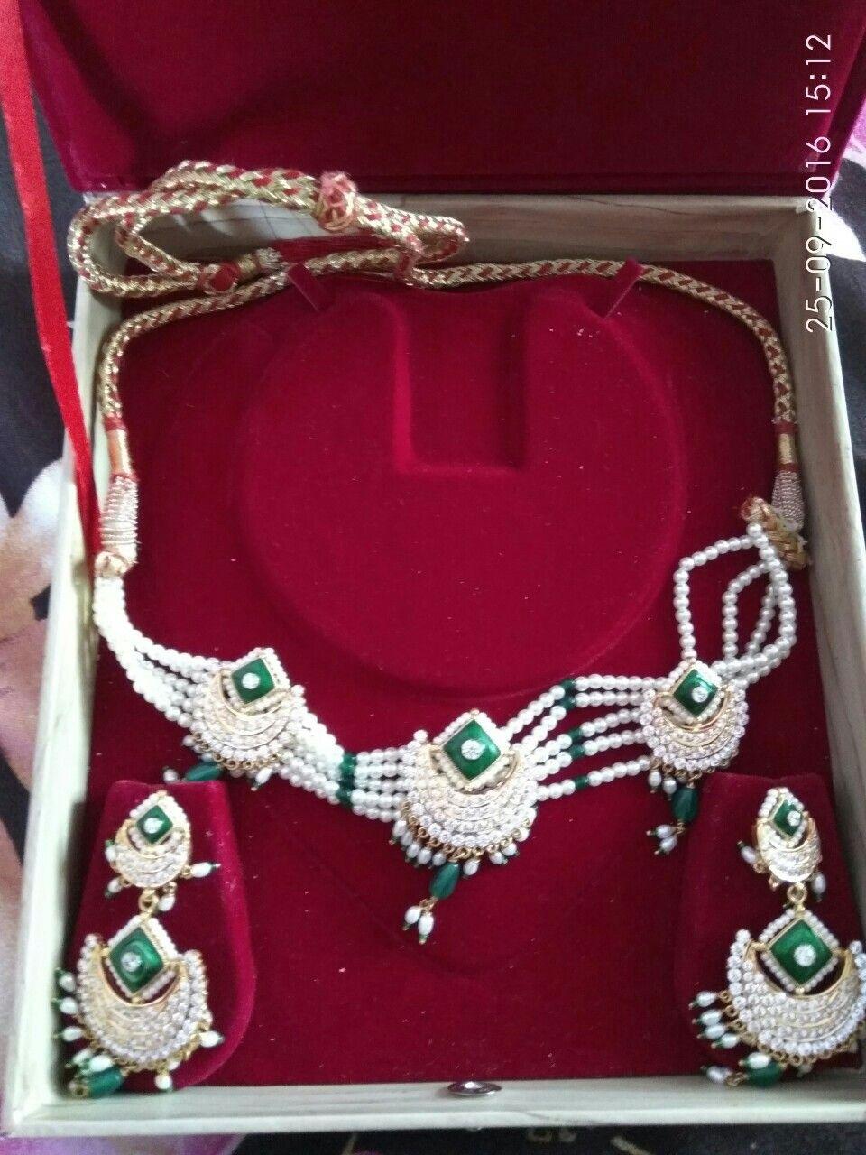 Rajputi jewellery necklace set by Kuldeep Singh | Royal rajputi ...