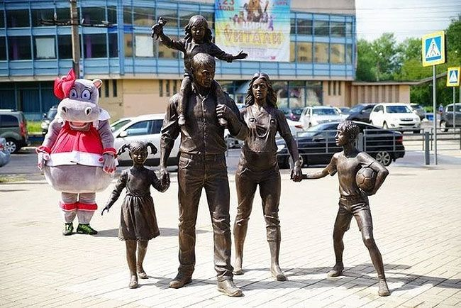"""""""Traditional Russian Family How  Should Be Like""""  bronze , Russia"""