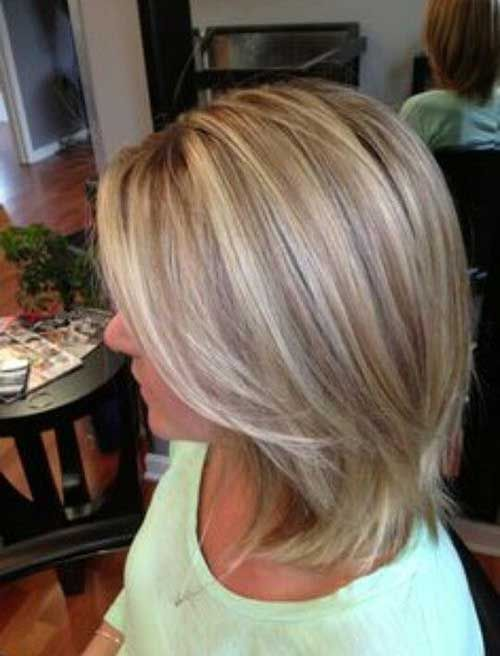 Two Toned Short Haircuts Featuring Blonde And Brown Hair