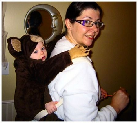 Monkey on my Back Babywearing costumes! Pinterest Babywearing - family halloween costume ideas with baby