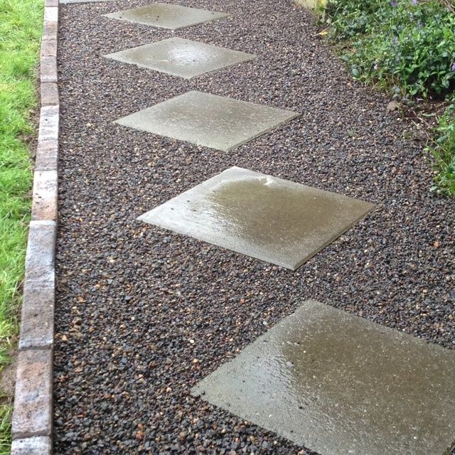 walkways gravel stones and gravel walkway on pinterest paver walkway design ideas - Paver Walkway Design Ideas