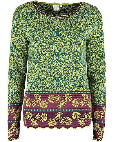 Farb-und Stilberatung mit www.farben-reich.com - Deerberg Pullover Harmina, wasabi - Pullover - Deerberg