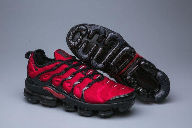 a0aff71fa1d Nike Air VaporMax Plus TN Red Black Women s Men s Running Shoes Casual  Sneakers