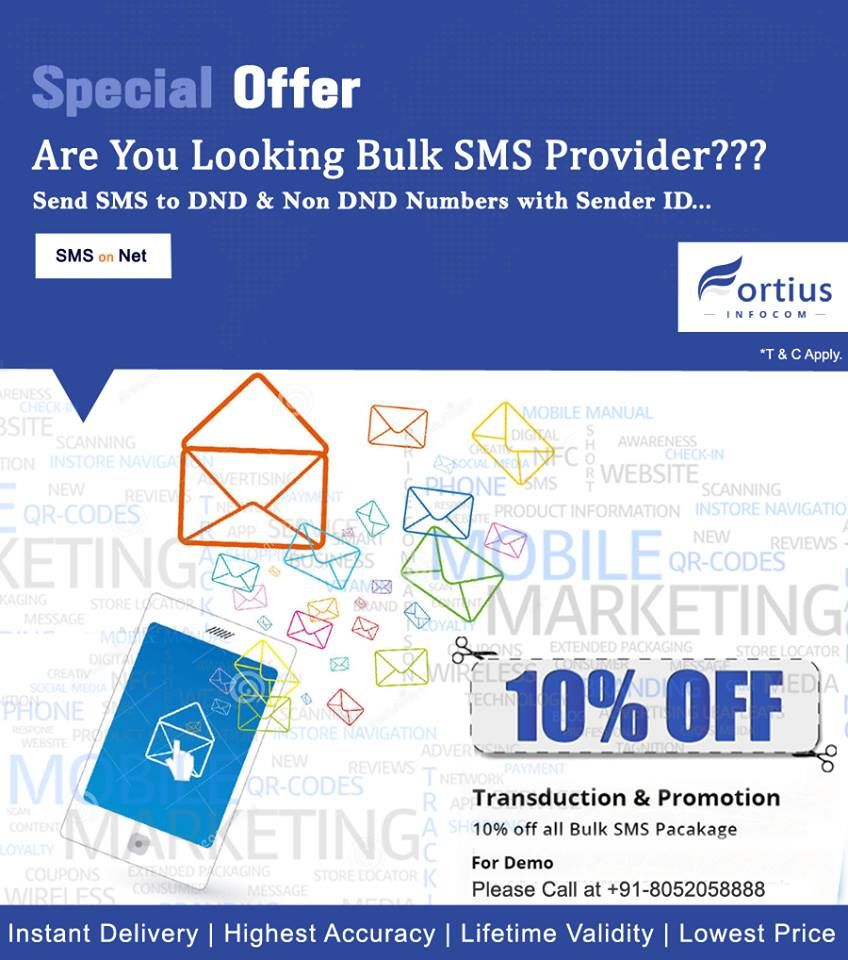 Fortius infocom is a leading #BulkSMSServices ,#CheapestbulkSMS , #bulksmsonline  http://fortiusinfocom.in/
