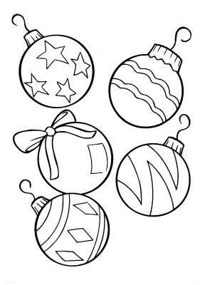 Раскраски новогодние шары для детей - картинки - Фото мир ...