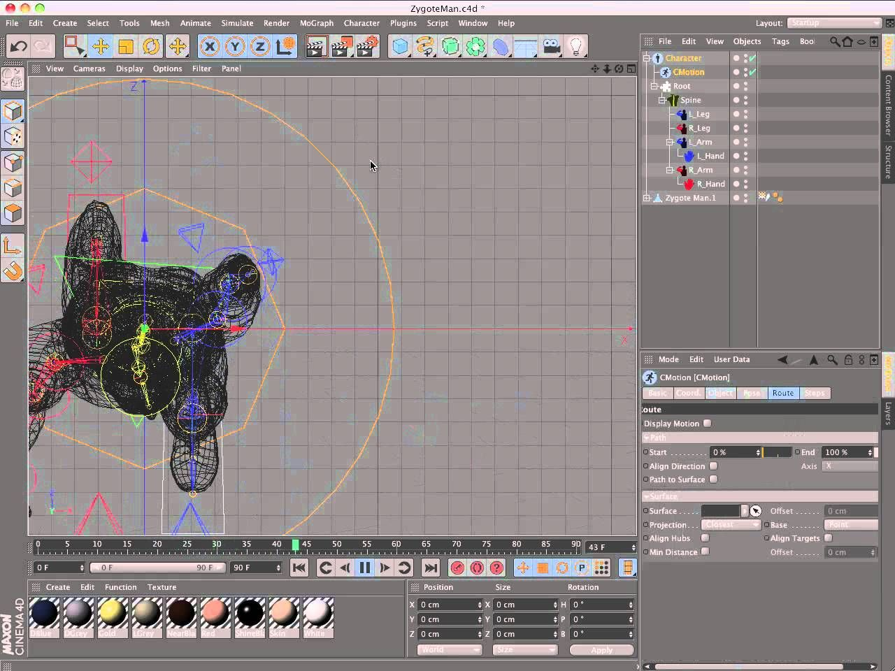 Rigging A Character With Cinema 4d R13 Character Object Cinema 4d