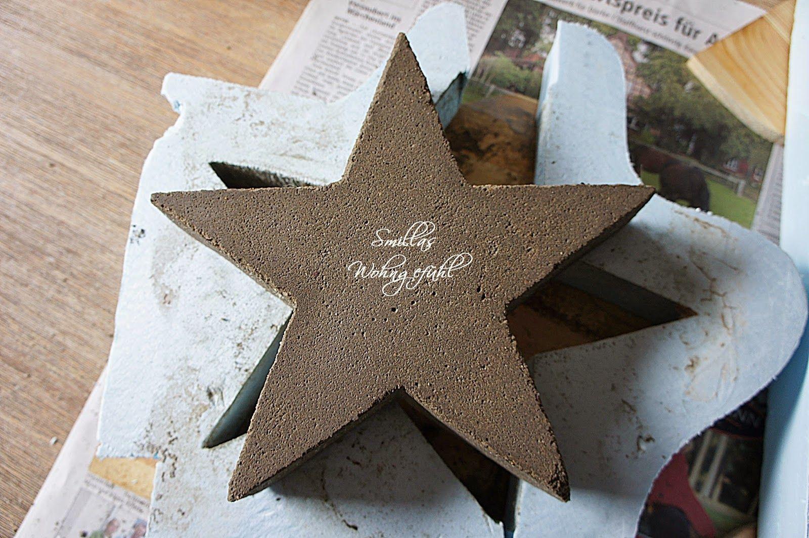 diy: a star is born! beton-sterne | basteln | pinterest | sterne