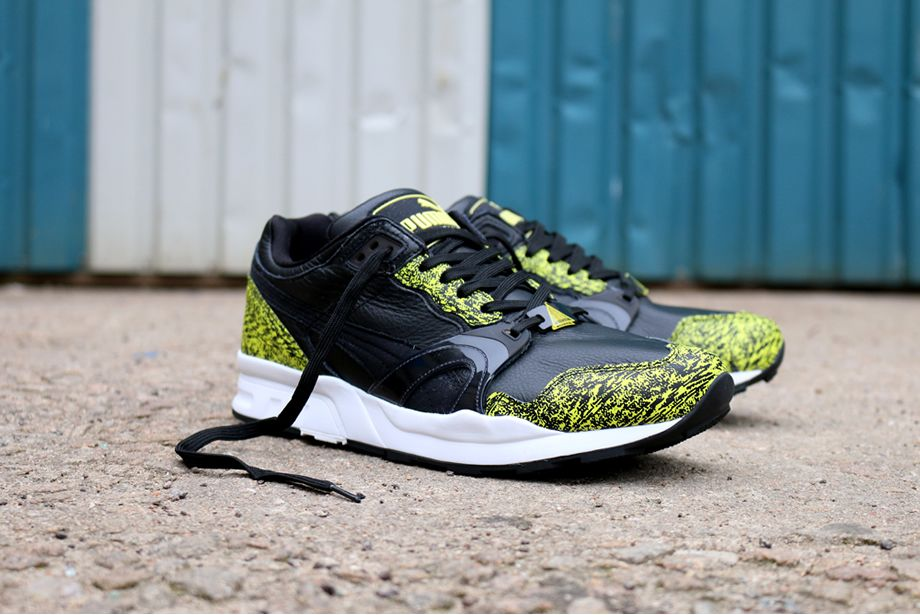 best service 562e2 e3734 Puma Trinomic XT2 Snow Splatter Pack  Black Yellow Hanon