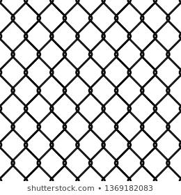 Chain Link Fence Realistic Metal Mesh Stock Vector Royalty Free 1354739351 Tekstury Eskiz Metall