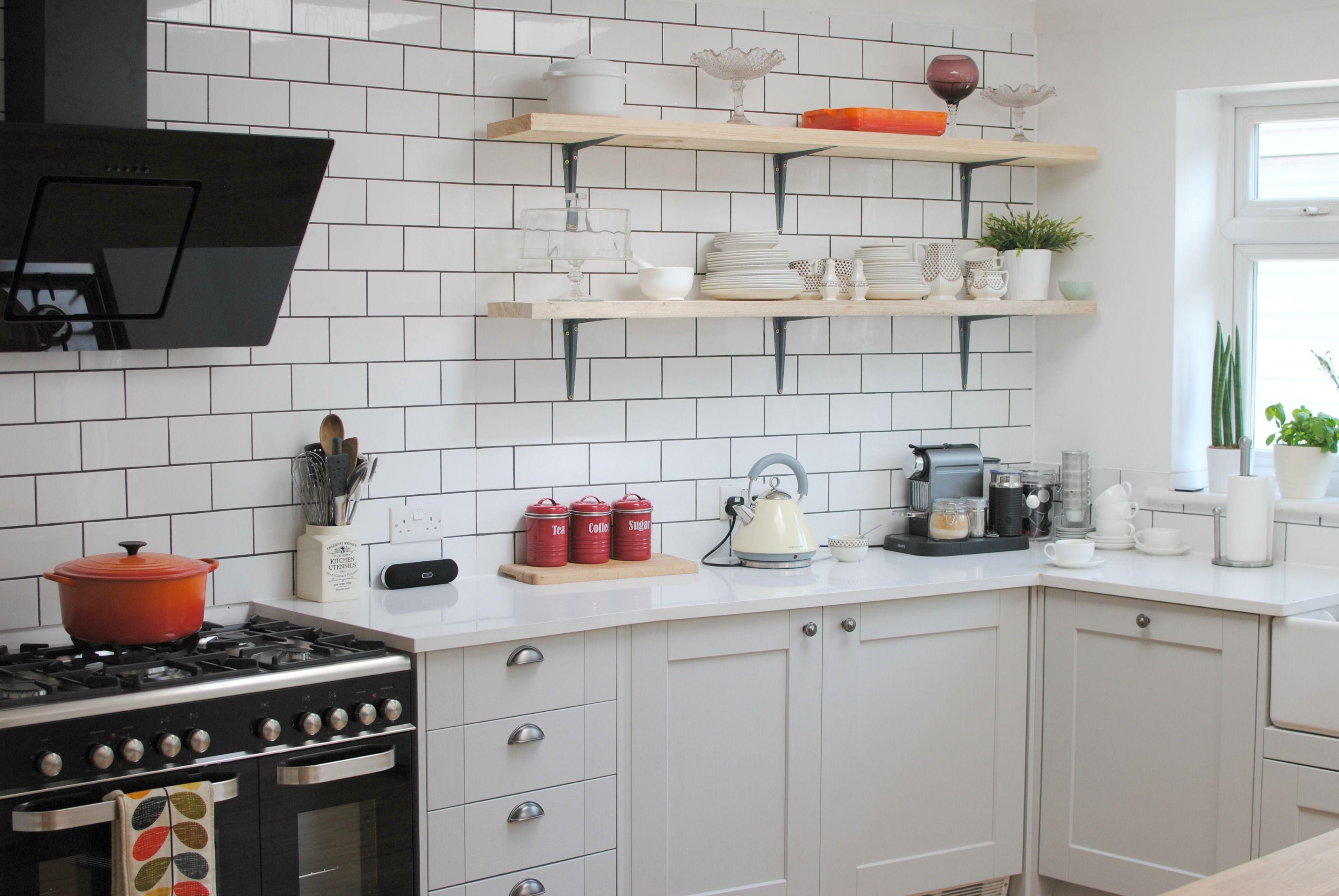 Howdens Burford Grey Kitchen with Quartz 'White Storm