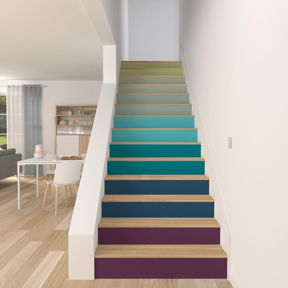 escaliers avec d grad de couleurs en peinture escalier pinterest porch and house. Black Bedroom Furniture Sets. Home Design Ideas