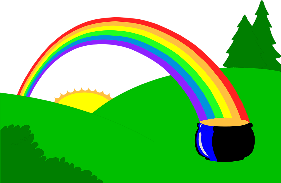 4622 Illustration Of A Pot Of Gold At The End Of A Rainbow Pv Png 958 625 Clip Art Pot Of Gold Rainbow