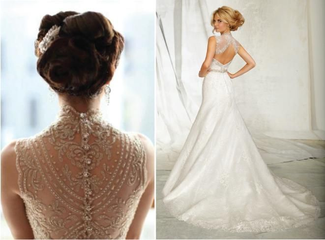 Lace back wedding dresses part 4 wedding dress and unique for Wedding dresses with interesting backs