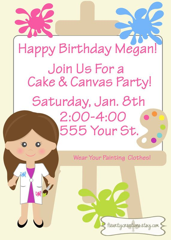 Girls paint and canvas childrens birthday by fleurtycreations girls paint and canvas childrens birthday by fleurtycreations filmwisefo