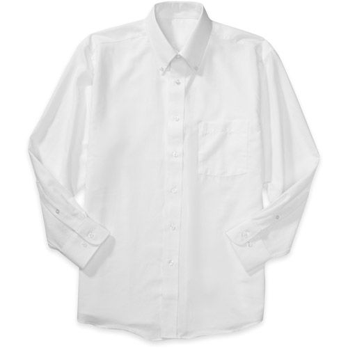 77270804 For the boys, George - Men's Long-Sleeve Oxford Shirt $12.98 Walmart ...