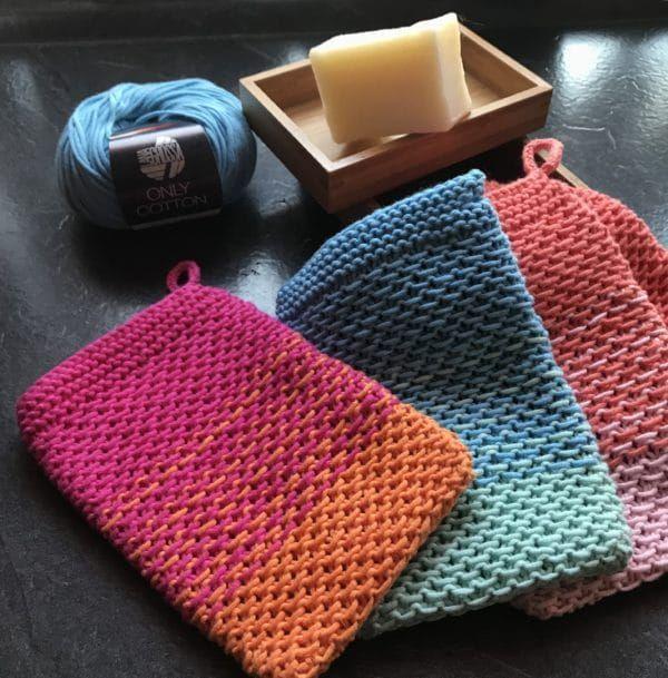 Waschhandschuhe stricken - HANDMADE Kultur #strickenundnähen
