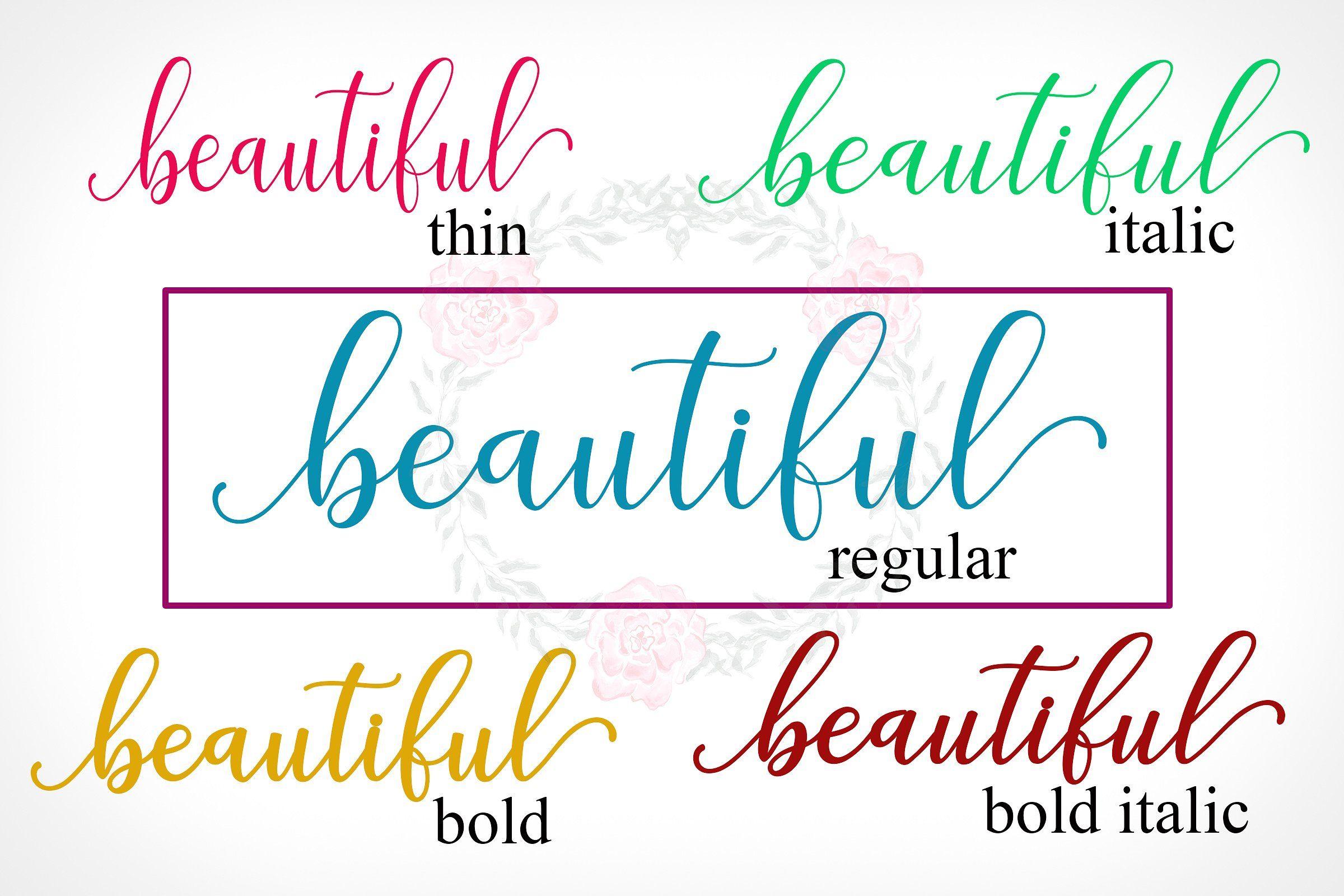 Adaline Script font family #divided#alternative#glyphs#features