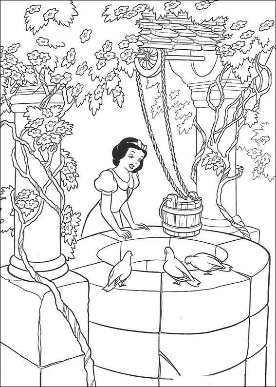 Dibujos Para Colorear Blancanieves Y Los Siete Enanitos 7 Dibujos