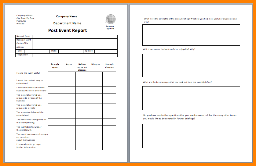 Post Event Report Template from i.pinimg.com