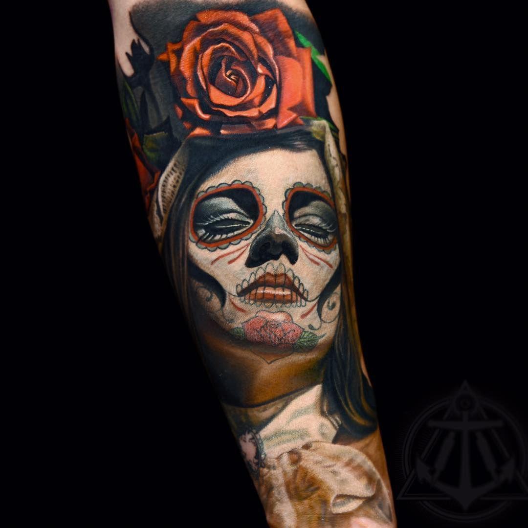 50+ Best Santa muerte tattoos meaning image ideas