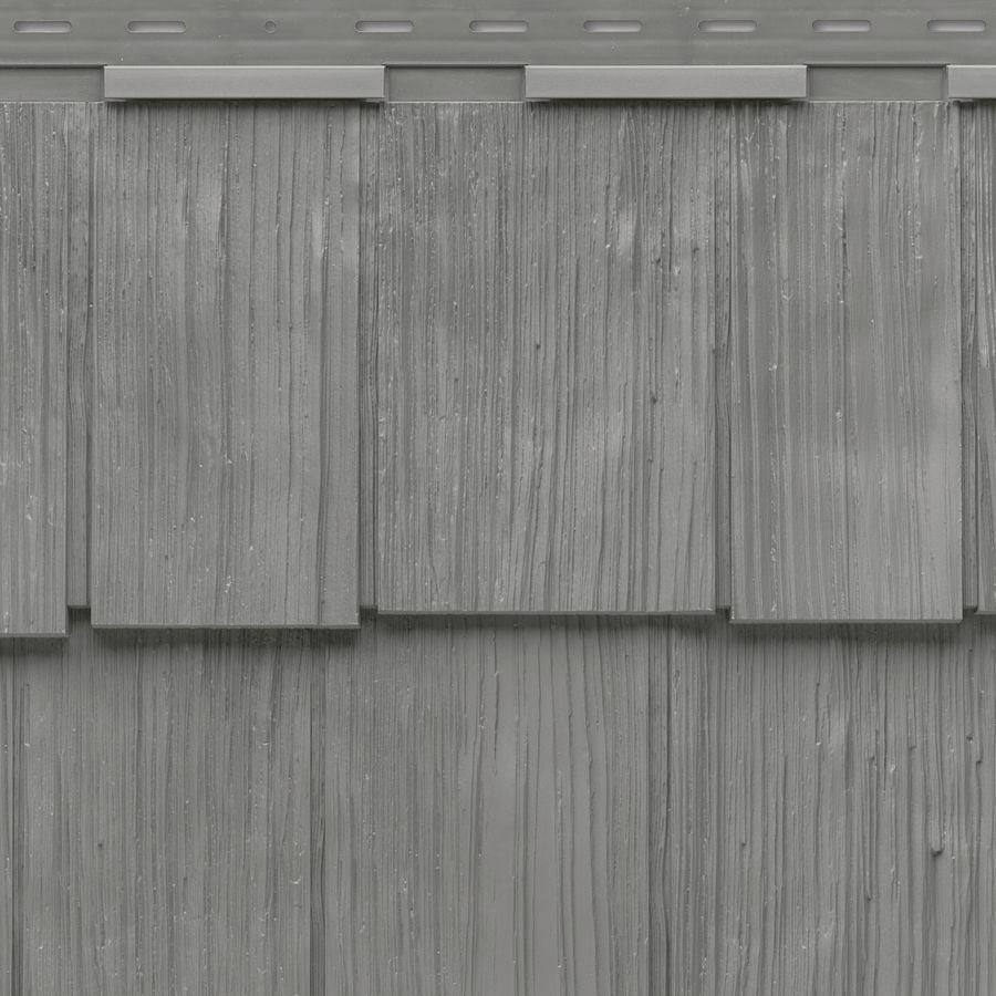 Georgia Pacific Vinyl Siding Cedar Spectrum X Pewter Wood Grain Hand Split Shake Panel