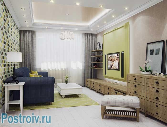 Дизайн гостиной 18 кв. м. в современном стиле ...