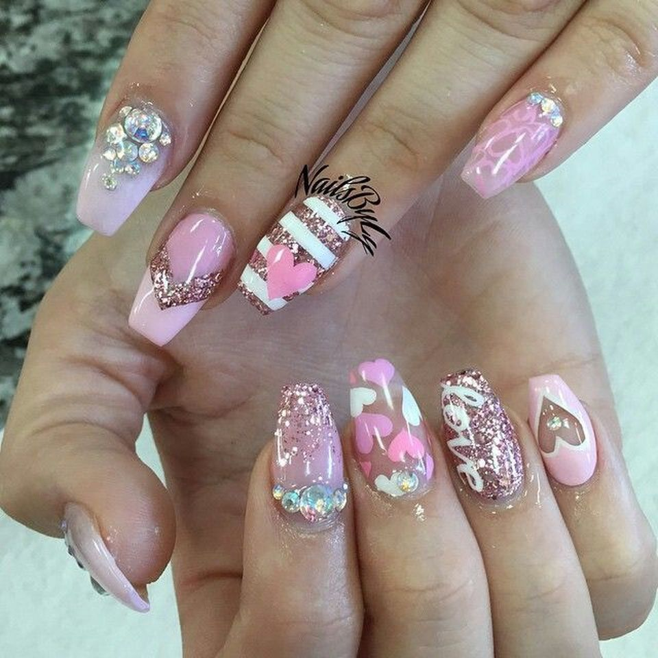 Top 25 Lovely Valentine Nail Design 2018 | Makeup, Nail nail and ...