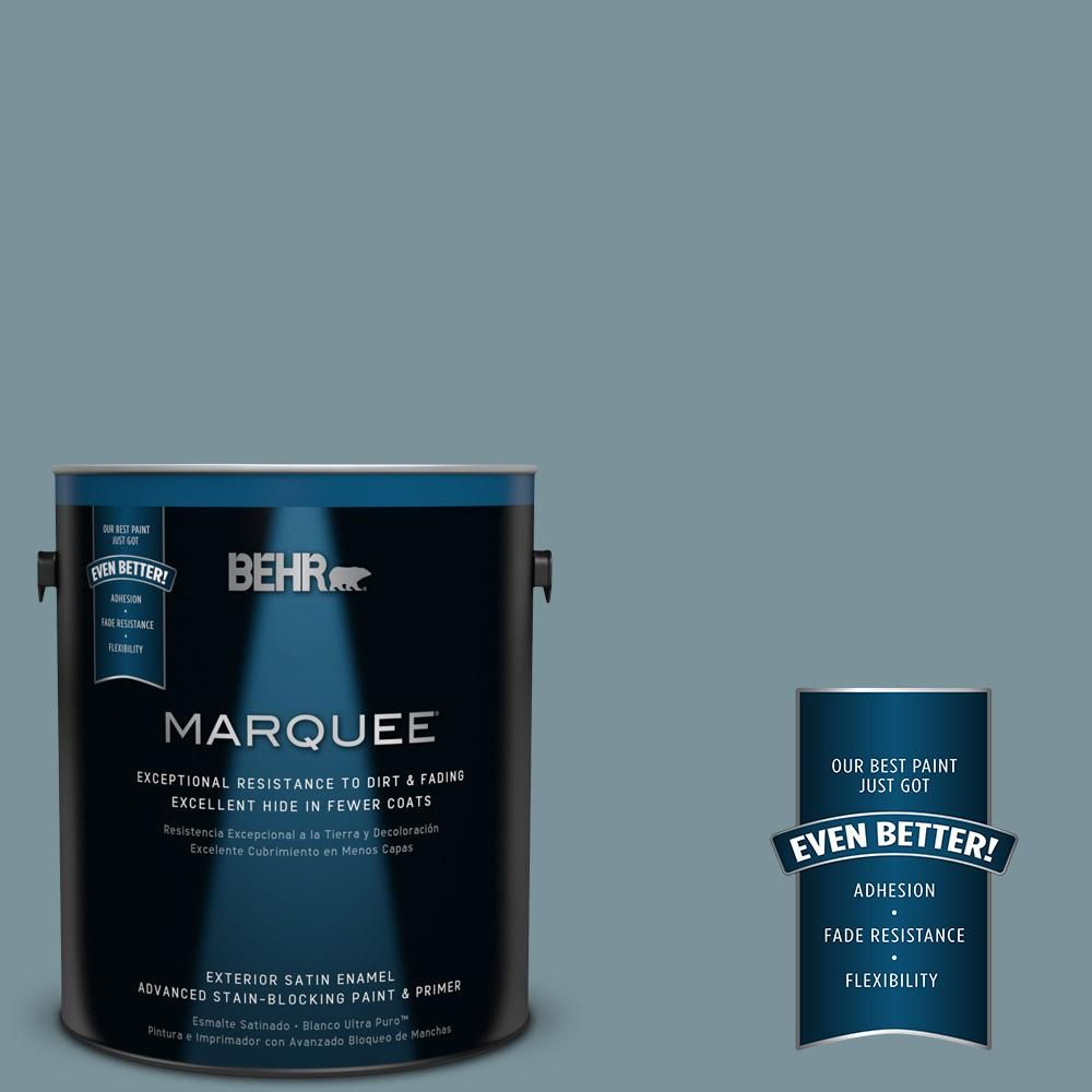 BEHR MARQUEE 1-gal. #pmd-55 Silent Tide Satin Enamel Exterior Paint