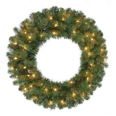Outdoor Lighted Wreath Entrancing 24 Inprelit Fairwood Artificial Christmas Wreath X 160 Tips With Decorating Inspiration