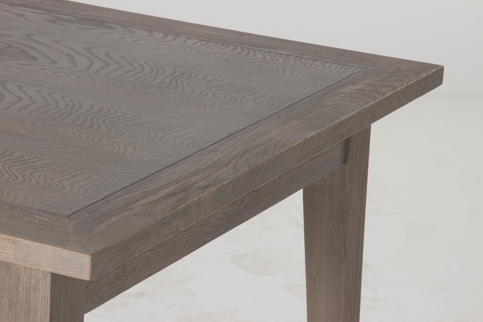 Amazon com flamant arnaud rectangular dining table distressed gray oak tables