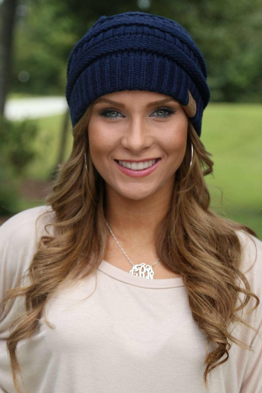 Crochet beanie with cutout at top to put your hair through. Perfect for  messy bun or pony tail! 5d404d7b70d