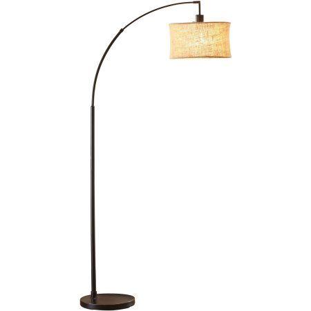 Better Homes And Gardens Burlap Arc Floor Lamp Walmart Com Bronze Arc Floor Lamp Floor Lamp Arc Floor Lamps Living room floor lamps walmart