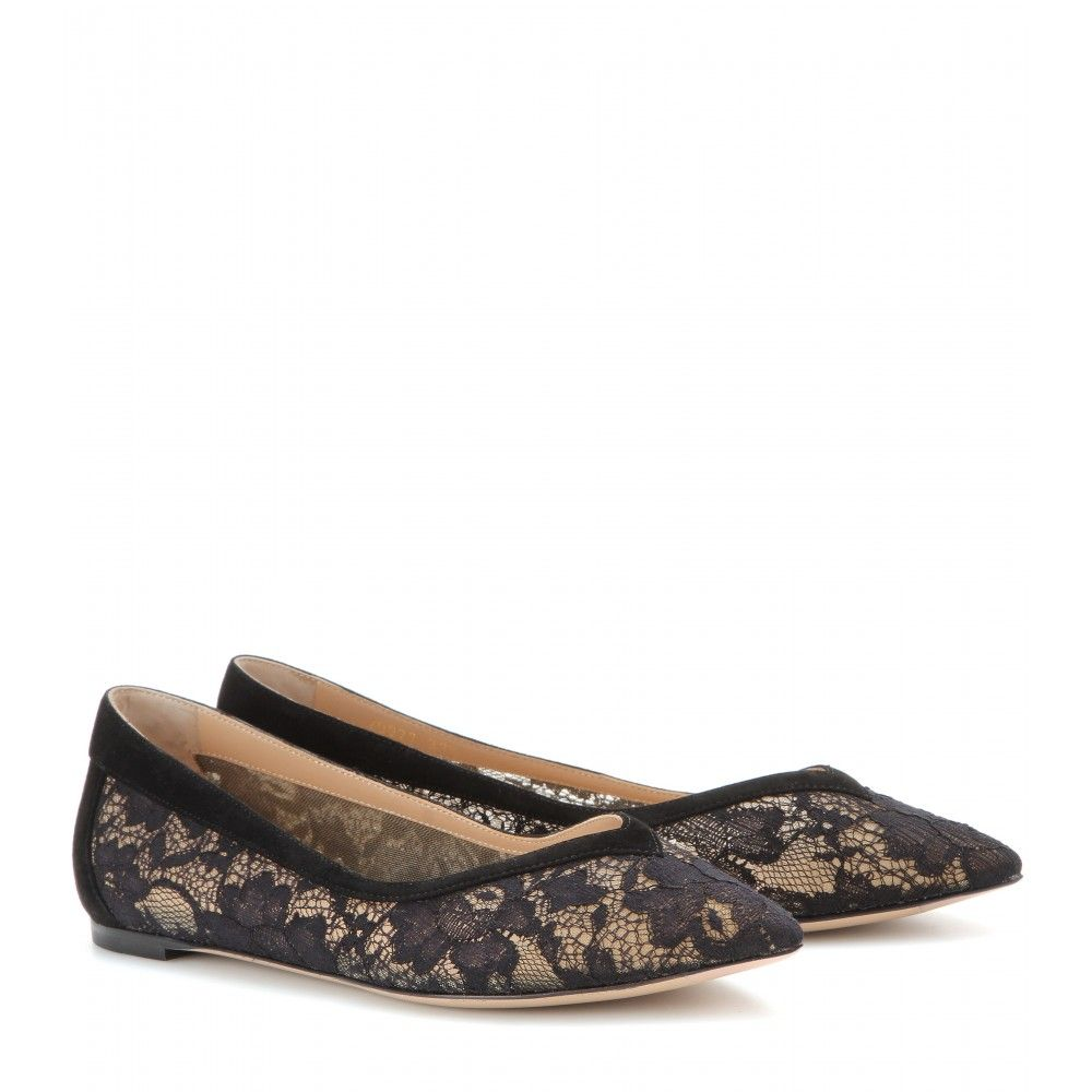 mytheresa.com - Lace ballerinas - ballerinas - shoes - Luxury Fashion for Women / Designer clothing, shoes, bags