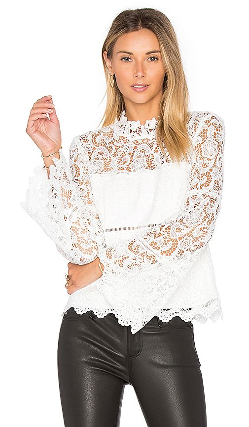 Shop for Bardot x REVOLVE Sansa Lace Top in Ivory at ...
