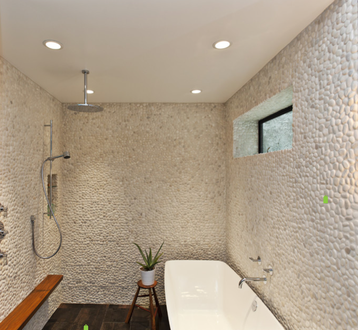 My dream shower design...minus the tub in the shower...