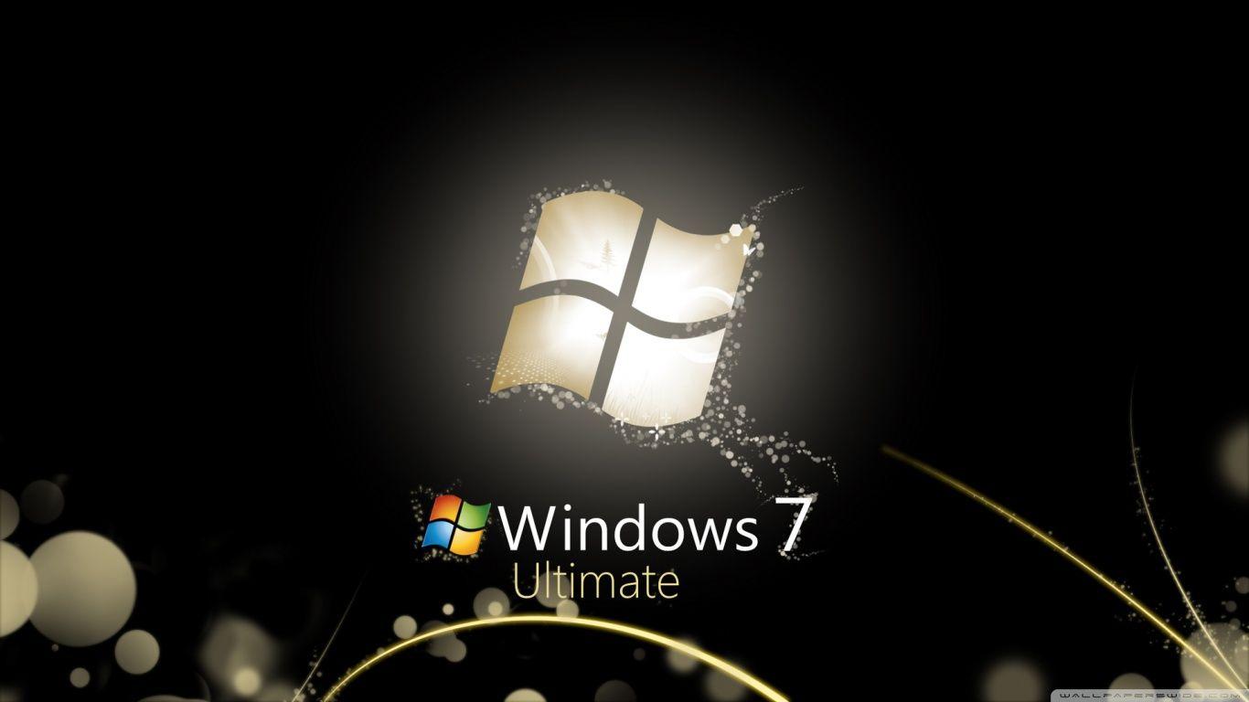 Windows 7 Ultimate Bright Black Hd Desktop Wallpaper