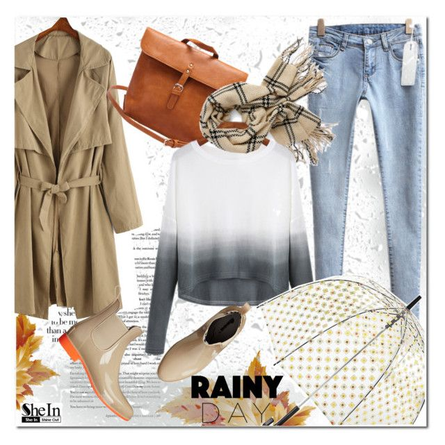 Rainy Day Style by j-sharon on Polyvore featuring NoSoX, Orla Kiely, vintage, Sheinside and rainydaystyle