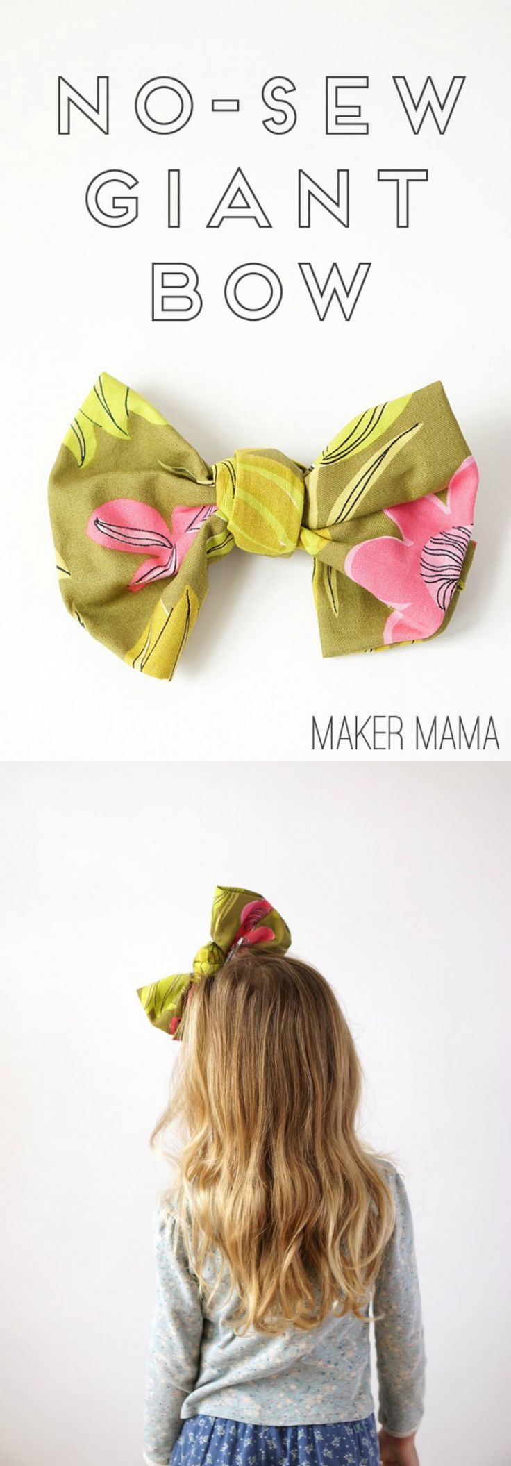 How To Make A Giant Bow From Fabric No Sew Kid Friendly