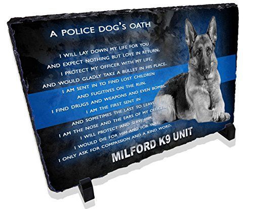 Personalized Police Dog K9 Prayer Stone Plaque from Redeye - k9 officer sample resume