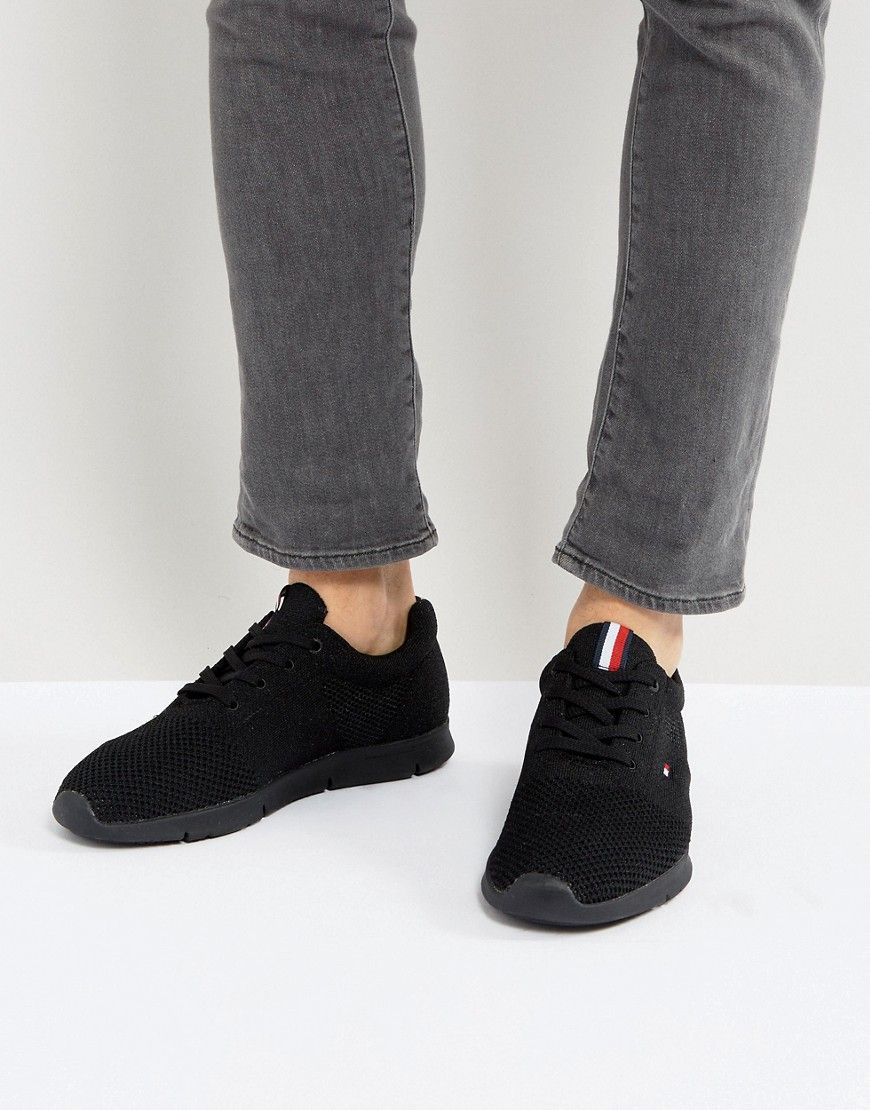 a0c25af0 Tommy Hilfiger Tobias Knit Sneakers in Black | Products | Tommy ...