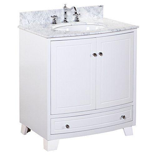 Palazzo 30-inch Bathroom Vanity (Carrara/White) Includes