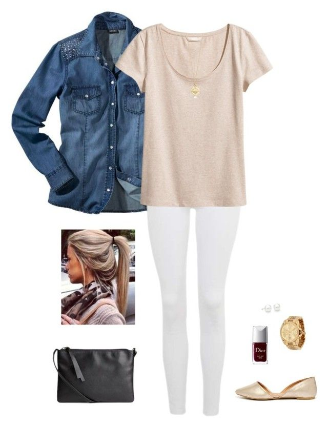 """""""☕️"""" by littlefashionprincessxo ❤ liked on Polyvore featuring Topshop, H&M, Tiffany & Co., Michael Kors, Christian Dior and Qupid"""