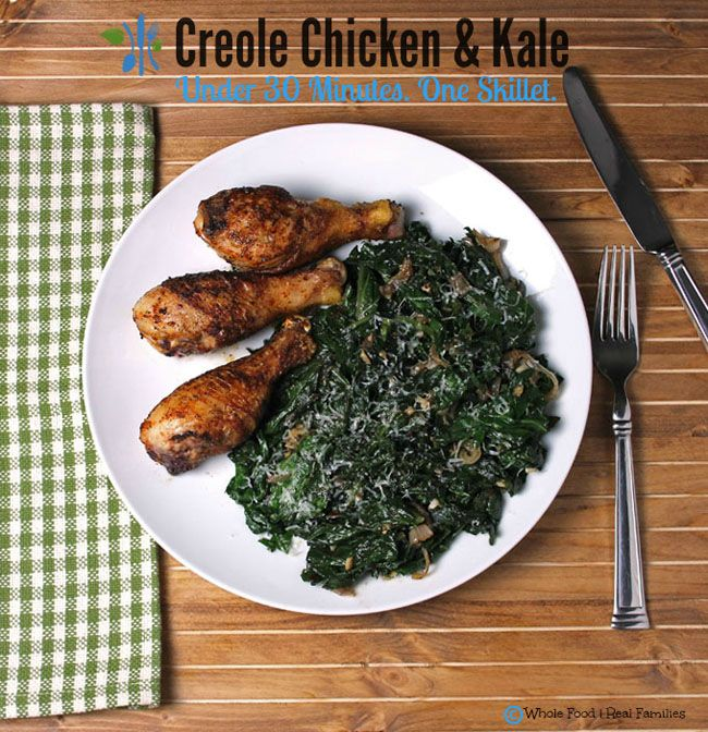 Creole chicken with sauteed kale by whole food real families low creole chicken with sauteed kale by whole food real families low carb recipe ideas roundup forumfinder Image collections