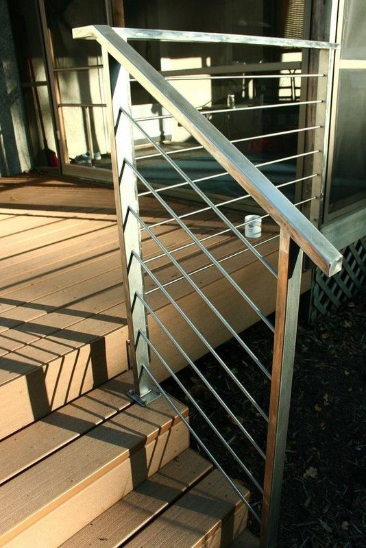 Simply Clean Stainless Steel Deckrail Outdoor Stair Railing   Modern Outdoor Stair Railing   Stainless Steel   Commercial   Balcony   Minimalist   Decorative