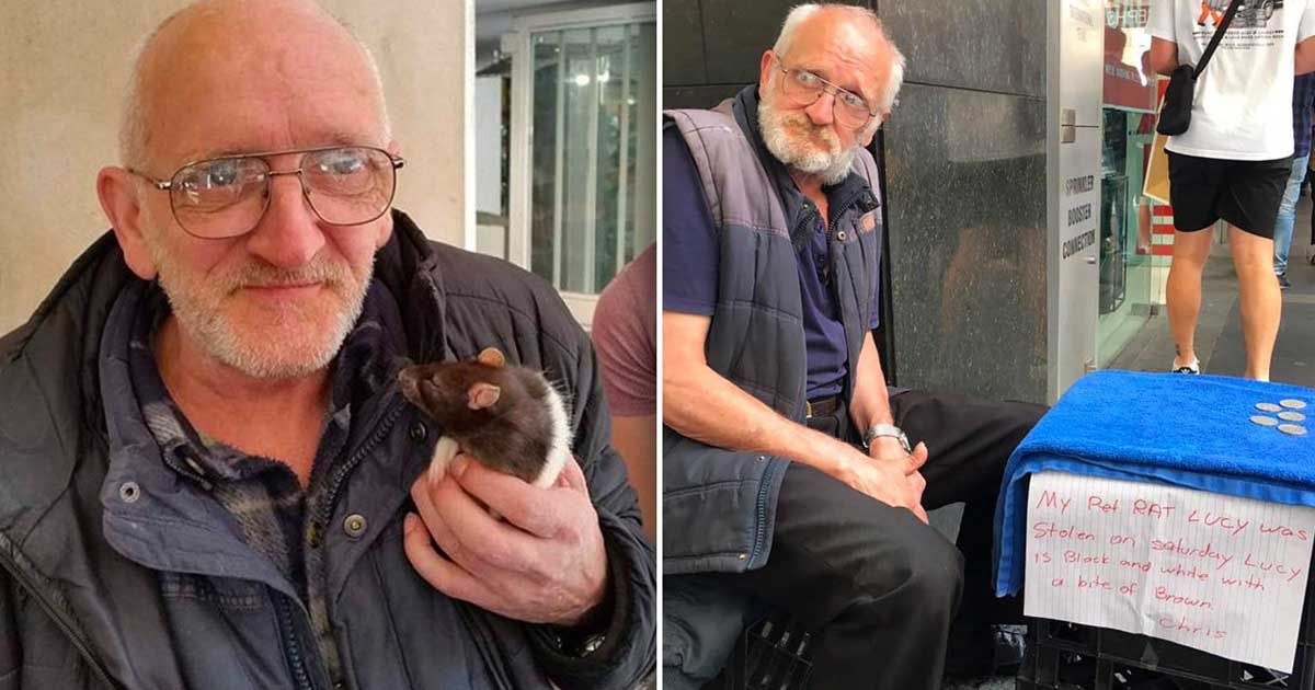 Homeless Man Reunites With His Beloved Pet Rat In Heartwarming Video Homeless Man Pet Rats Heartwarming
