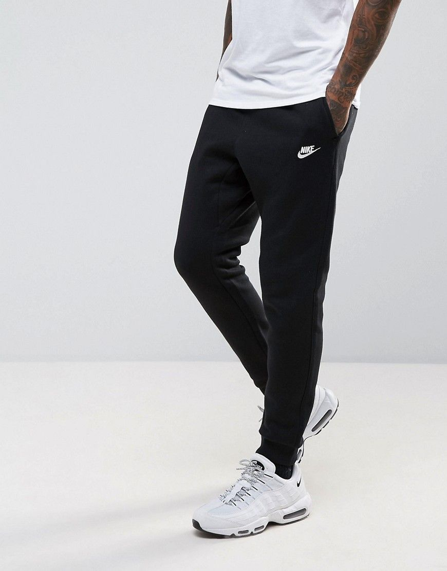 Get this Nike s joggers now! Click for more details. Worldwide shipping.  Nike Cuffed Club Jogger In Black 804408-010 - Black  Joggers by Nike c250305c795
