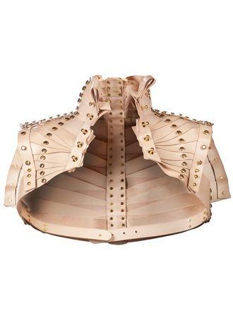 studded leather bolero