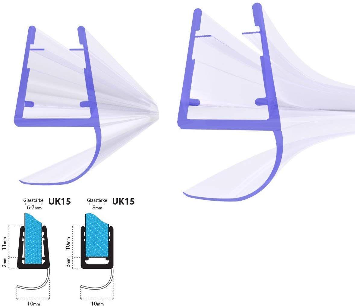 Steigner Frameless Shower Door Bottom Seal Uk15 For 0 195 Inch To 0 312 Inch 5mm To 8mm Glass Thickness Frameless Shower Shower Doors Frameless Shower Doors